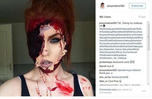 Les épouvantables et incroyables maquillages de Jessy Malone
