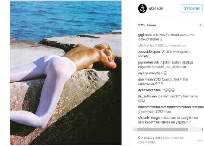 Jugée trop maigre, Gigi Hadid réplique sur Instagram