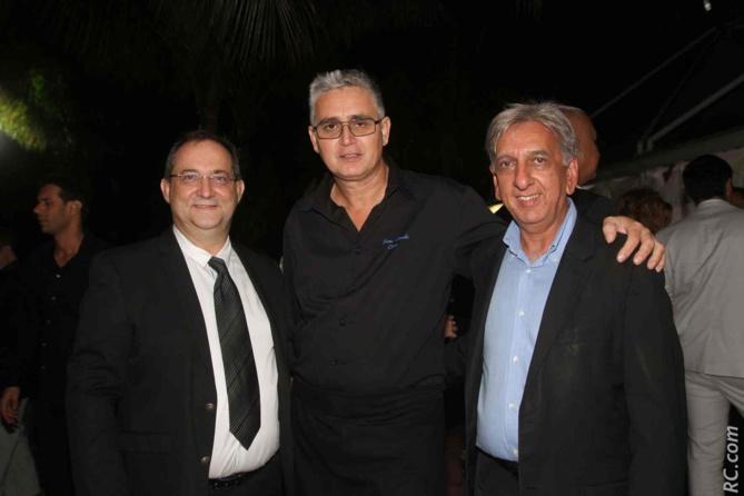 Stéphane Fouassin, Jean-Claude Cléret, et Aziz Patel