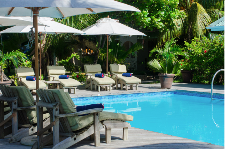 La piscine de l'Indian Ocean Lodge
