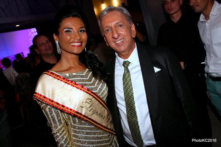 Florence Cataye et Aziz Patel , délégué Miss France pour La Réunion