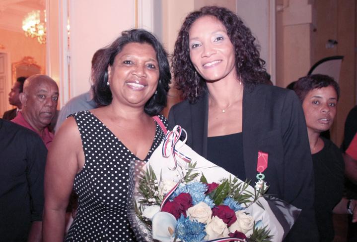 Leïla Lejeune-Duchemann décorée de la Légion d'Honneur