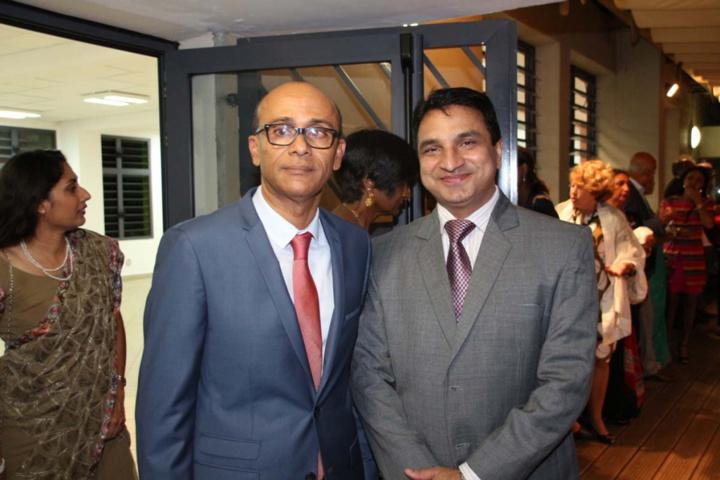 Philippe Naillet, député, et Sanjeev Bhati
