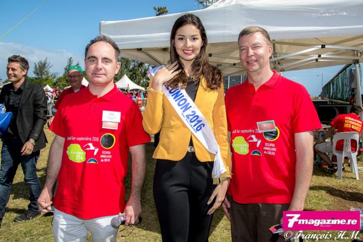 Miss Réunion a ébloui le site de l'éclipse au Gol!