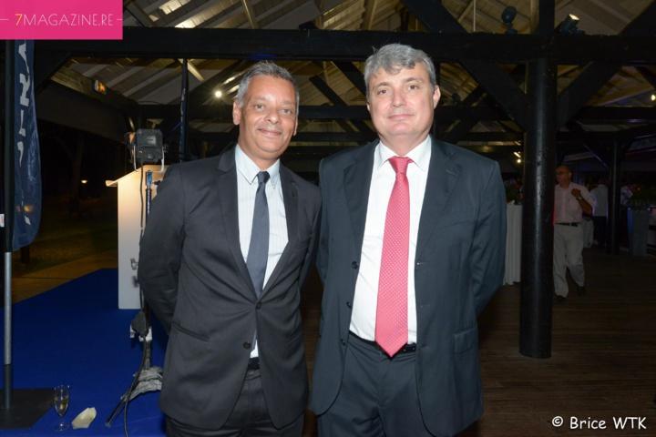 Robert Bourquin, directeur Air Mauritius Réunion, et Pierre-Alain Frécaut, expert comptable