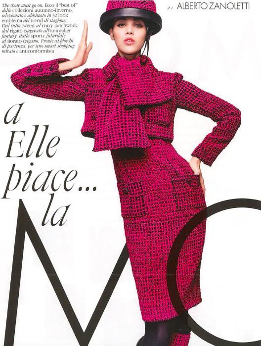Pauline Hoarau star de Elle Italia