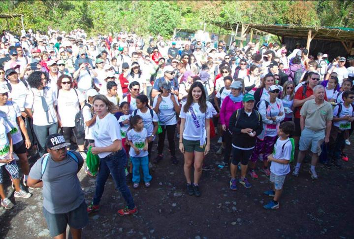 Miss Réunion marche pour la planète