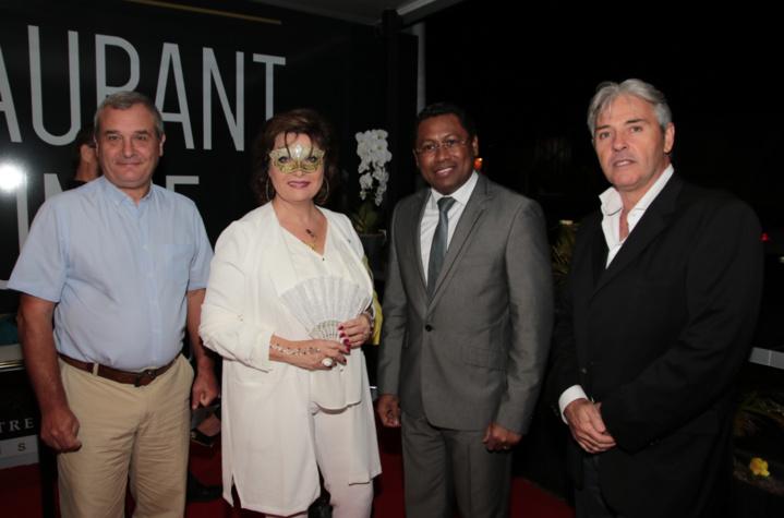 Etienne Morel, directeur du CHU de Mayotte, Jeanne Loyher, Virapin Ramamonjisoa consul général de Madagascar à La Réunion et Didier Brocas, consul de l'Union des Comores à La Réunion