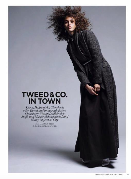 Pauline Hoarau: leçon de chic en tweed