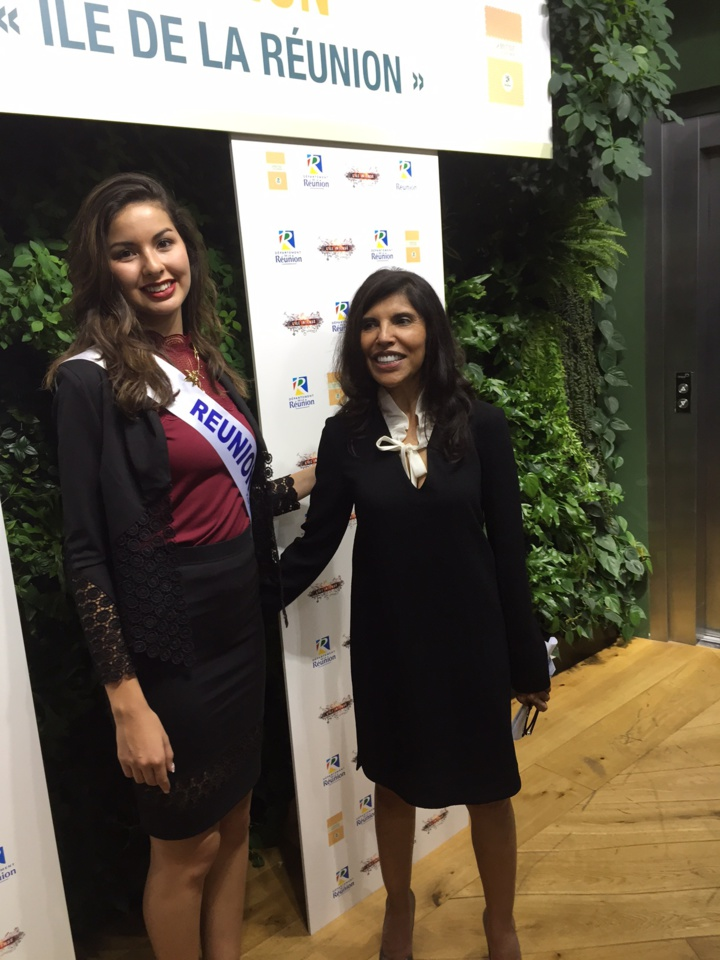 Miss Réunion 2016 et Nassimah Dindar, présidente du département de La Réunion