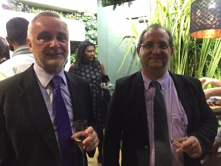Michel Lagourgue, vice-président de l'IRT et Stéphane Fouassin,président de l'IRT