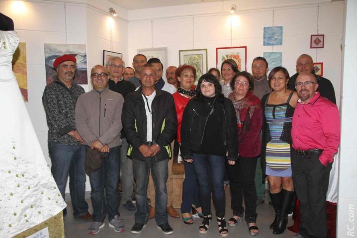 Une belle palette d'artistes autour des organisateurs pour le lancement de Cilaos'Art 2016