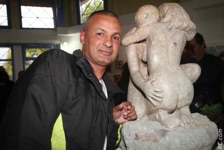 Jean-Luc Técher: un an de travail pour réaliser cette superbe sculpture qui a attiré tous les regards.