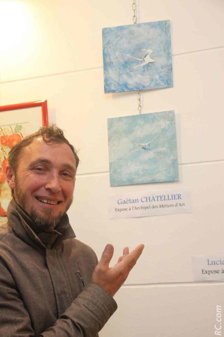 Le dessinateur Gaëtan Châtellier exposait à l'Archipel des Métiers d'Art