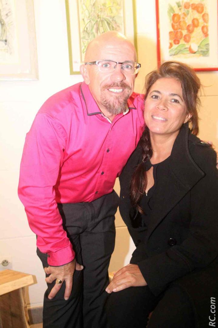 Jean-Maurice Maillot et Sylvie Fabre, qui est devenue une «fidèle» de Cilaos, n'a pas raté ce rendez-vous culturel et artistique.