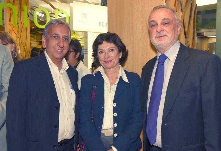 Aziz Patel, une invitée, et Michel Lagourgue, vice-président de l'IRT