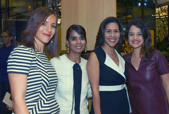 Emmanuelle Nouares d'Air Austral, Marie-Christine Ponamalé de l'Agence 360°, Sophie Gastrin de France Télévisions, et Stéphanie Bégert d'Air Austral