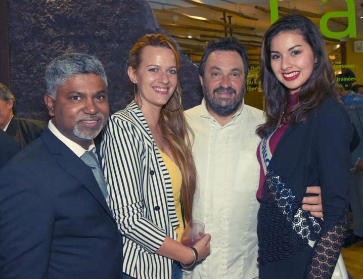 José Garjah d'Artmédia Communication, Sarah Hugon, le chef Yves Candeborde et Ambre N'guyen
