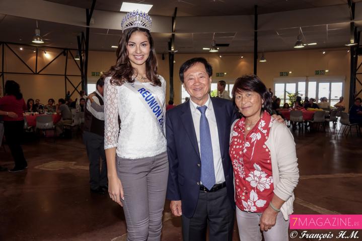 Miss Réunion invitée par André Thien Ah-Koon: Ambre N'guyen accueillie en reine!