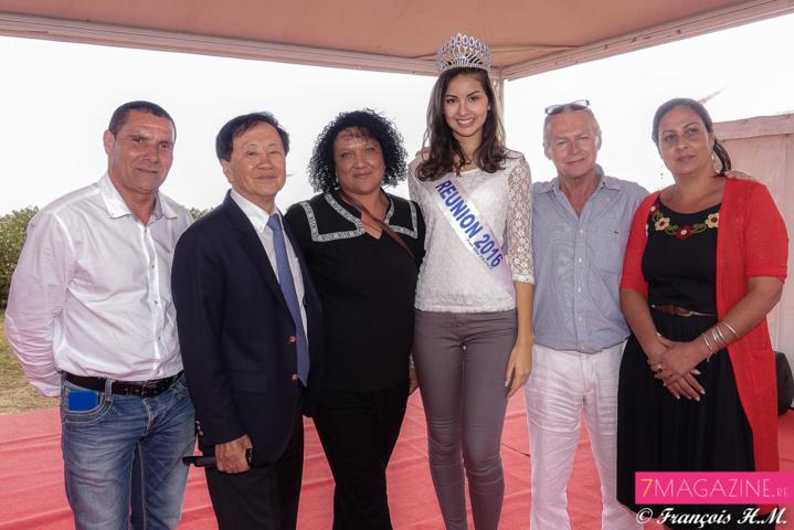 Avec les élus du Tampon à la Fête de Quartier du 17ème km