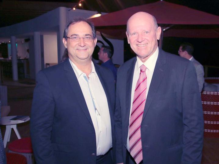 Stéphane Fouassin, président de l'IRT, et Alain St Ange