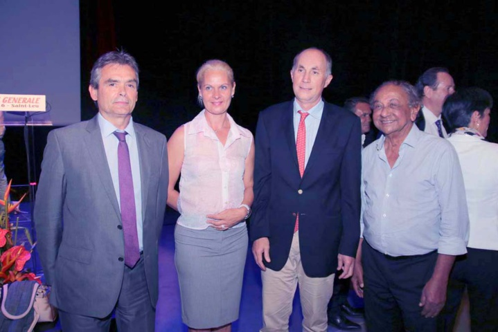Gilles Traimond, Daniel Moreau et Abdéali Goulamaly