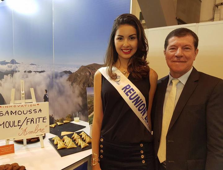 Ambre et Marcelino Burel, président du Conseil de l'Ordre des Experts Comptables de La Réunion