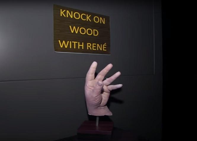 Céline Dion et la main fétiche de René!