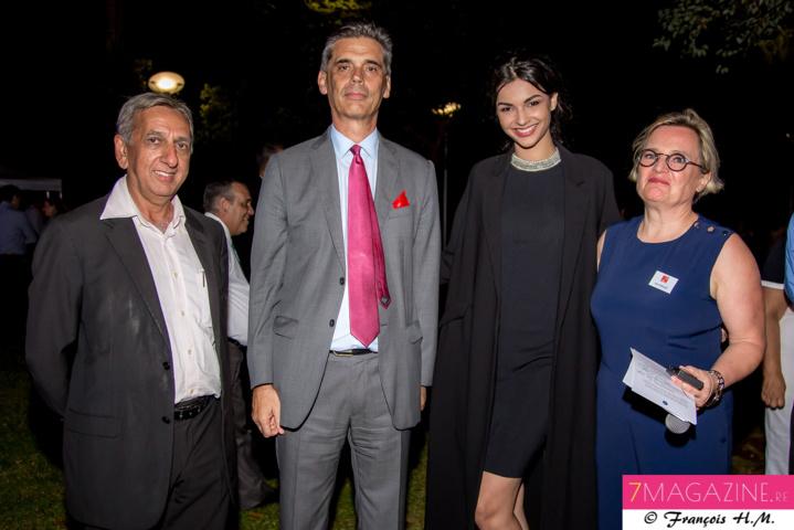 Aziz Patel, Dominique Sorain, Azuima Issa, et Anne Foucault, déléguée territoriale handicap à la Caisse des Dépôts