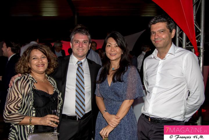 Chahéda et Christian Wolff, Nathalie Thiaw-Kine, et un invité