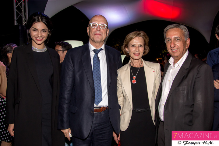 Azuima Issa, Marc Abadie, Cécile Pozzo di Borgo, et Aziz Patel
