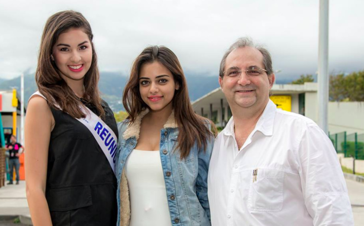 Miss Réunion, Miss India et Stéphane Fouassin, le président de l'IRT
