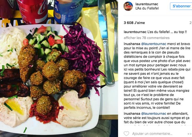 Laurent Ournac critiqué sur son régime alimentaire garni