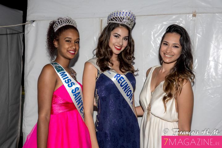 Audrey Lebon, Ambre N'guyen et Anne-Sophie de Peretti, candidate Miss Réunion 2016