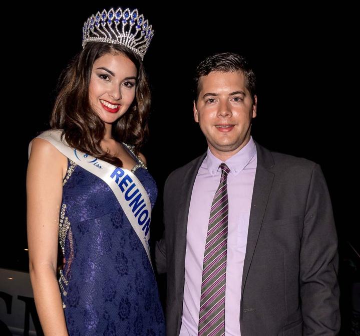 Miss Réunion avec Grégoire Cordeboeuf