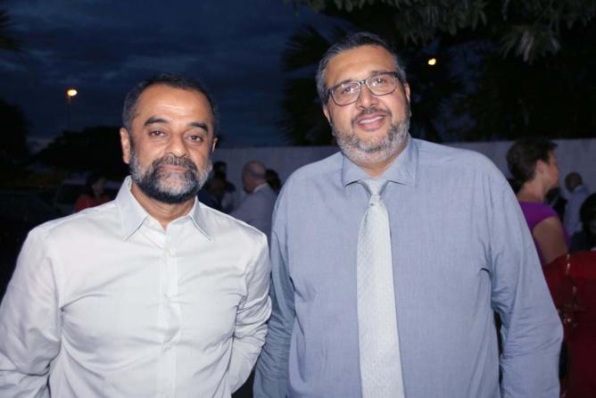 Haroun Gany (à droite) et un invité