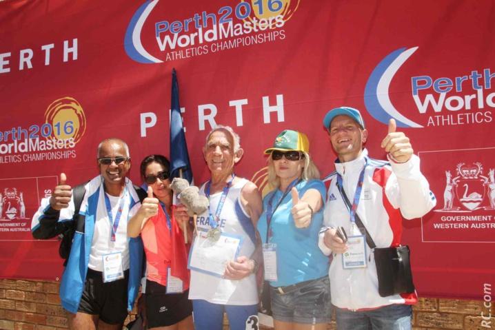 La Réunion lé là et l'a montré de fort belle manière au championnat du monde d'athlétisme Masters à Perth.