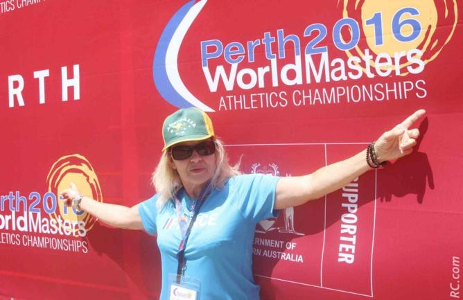 Une belle expérience à Perth pour la présidente-coureuse du CA Plaine des Cafres Marlène Chane See Chu