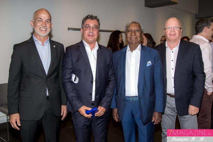 Gérald Maillot, Gilbert Calascibetta, Jean-Paul Virapoullé, et Jean-François Hoareau, président CCAS Saint-Denis