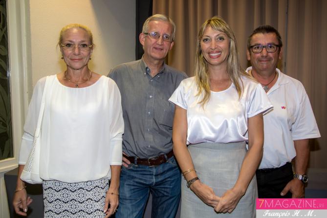 Stéphanie Martimort du LUX (à droite) avec des invités de la soirée