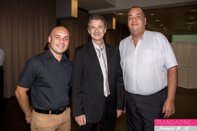 Nicolas Gauvin, Patrick Pierlot et Christian Robert de La Poste