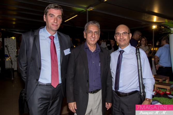 Alexandre Hedoux, Aziz Patel et Marc Leclerc de La Banque Postale