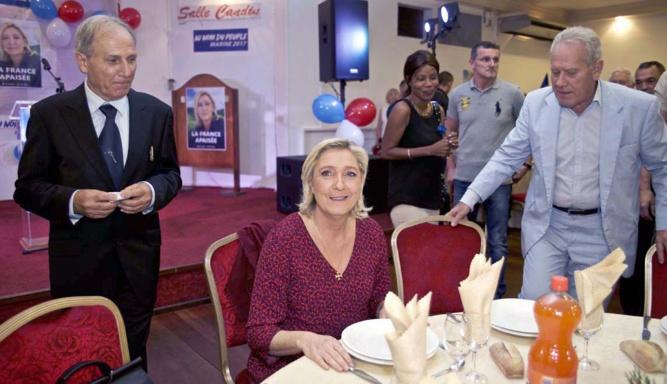 Jean-Claude Otto Bruc, Marine Le Pen et Jean-Marc Dubois