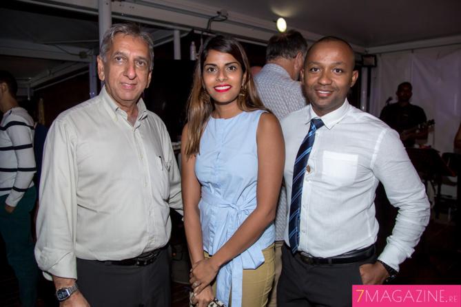 Aziz Patel, Nassira Issop et Salim Mohamed
