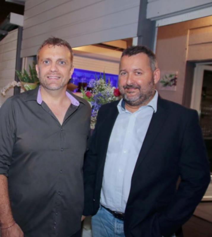 Le chef Yves Piednoel, Fourchette d'Or 2016, et Hervé Charlanes
