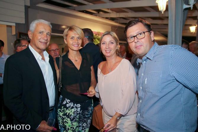 François et Ingrid Caillé, avec Olivier Langlet et son épouse