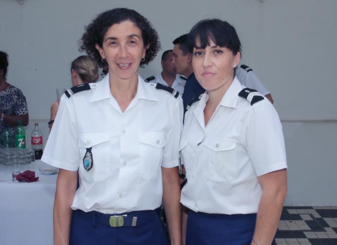 Maréchale des logis-chef Emilie Garcia (à droite), et une collègue
