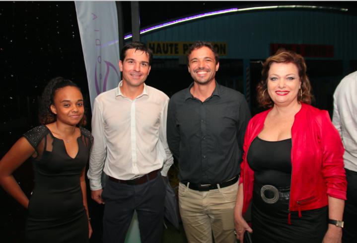 Edwige Lagarigue d'Inova, Sébastien Dittat formateur Inova, Yohan Goude d'Inova et Jeanne Loyher