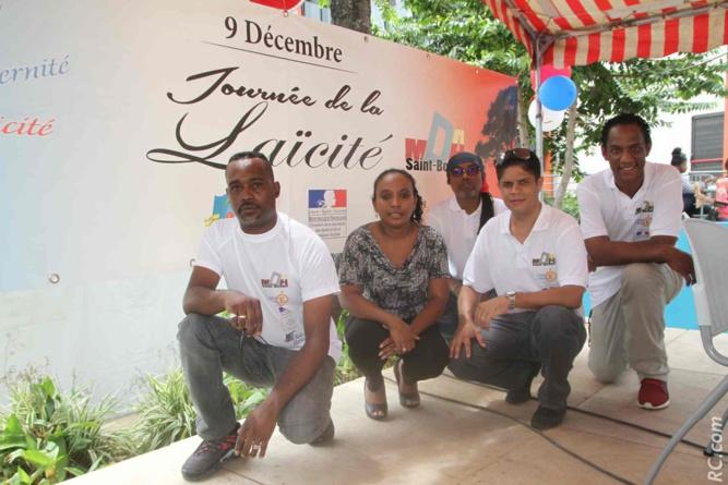 L'équipe de la MDA: Jocelyne Mardom, présidente, Jimmy Bègue, Directeur, Willy Réséda, Fabrice Lambert et Frédéric Oléry