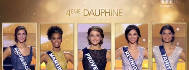 Les 5 finalistes l'année dernière: Miss Réunion 2015, Azuima Issa en faisait partie